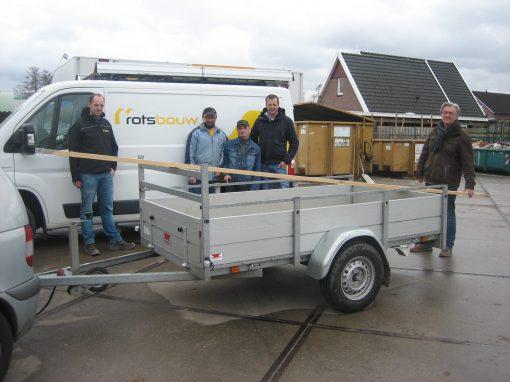 Rots bouw Aalten geeft Estinea steigerplanken